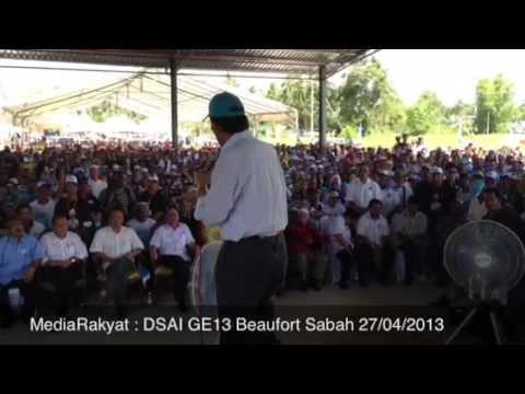 Newsflash: Anwar Ibrahim At Beaufort Sabah