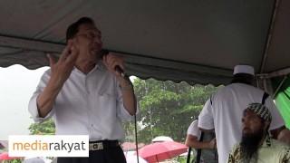 Ceramah Anwar Ibrahim Di Kuala Sepetang Dalam Cuaca Hujan Lebat