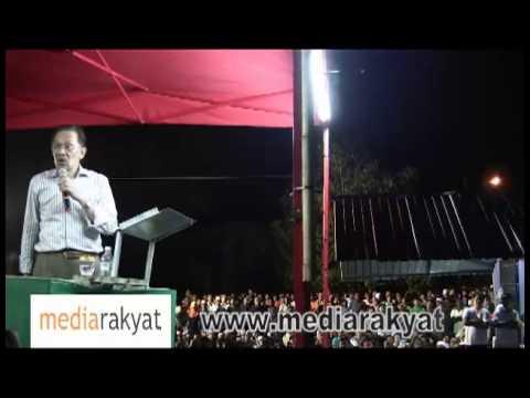 Anwar Ibrahim: Ceramah Perdana Bersama 15,000 Di Sg Petani Kedah