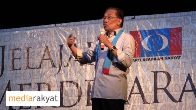 Anwar Ibrahim: Najib Tak Berani Tegur Mahathir, Tak Berani Tegur Perkasa