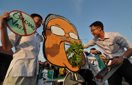 Lim Kit Siang urged PKR's Lee Khai Loon to consider apologising over his kangkung-themed flash mob
