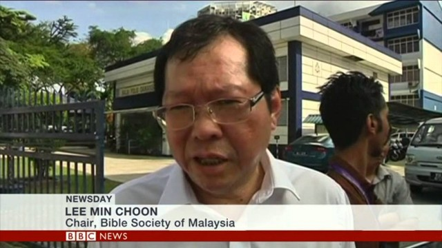BBC World News: Malaysia bible raid divides Muslims & Christians