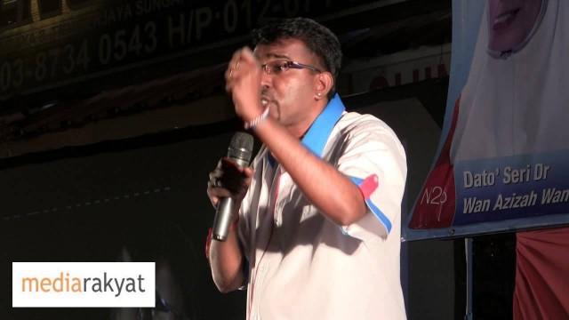 G Manivanan: Setiap Undi Untuk Kak Wan, Adalah Undi Kita Hapuskan UMNO BN Selama-Lamanya