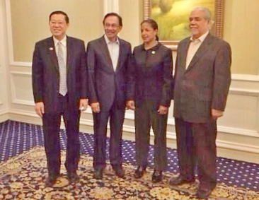 ANWAR IBRAHIM MEETS US NATIONAL SECURITY COUNCIL DIRECTOR AMBASSADOR SUSAN RICE