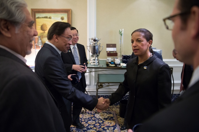 (The White House) National Security Advisor Susan Rice: United States has followed Anwar's case closely