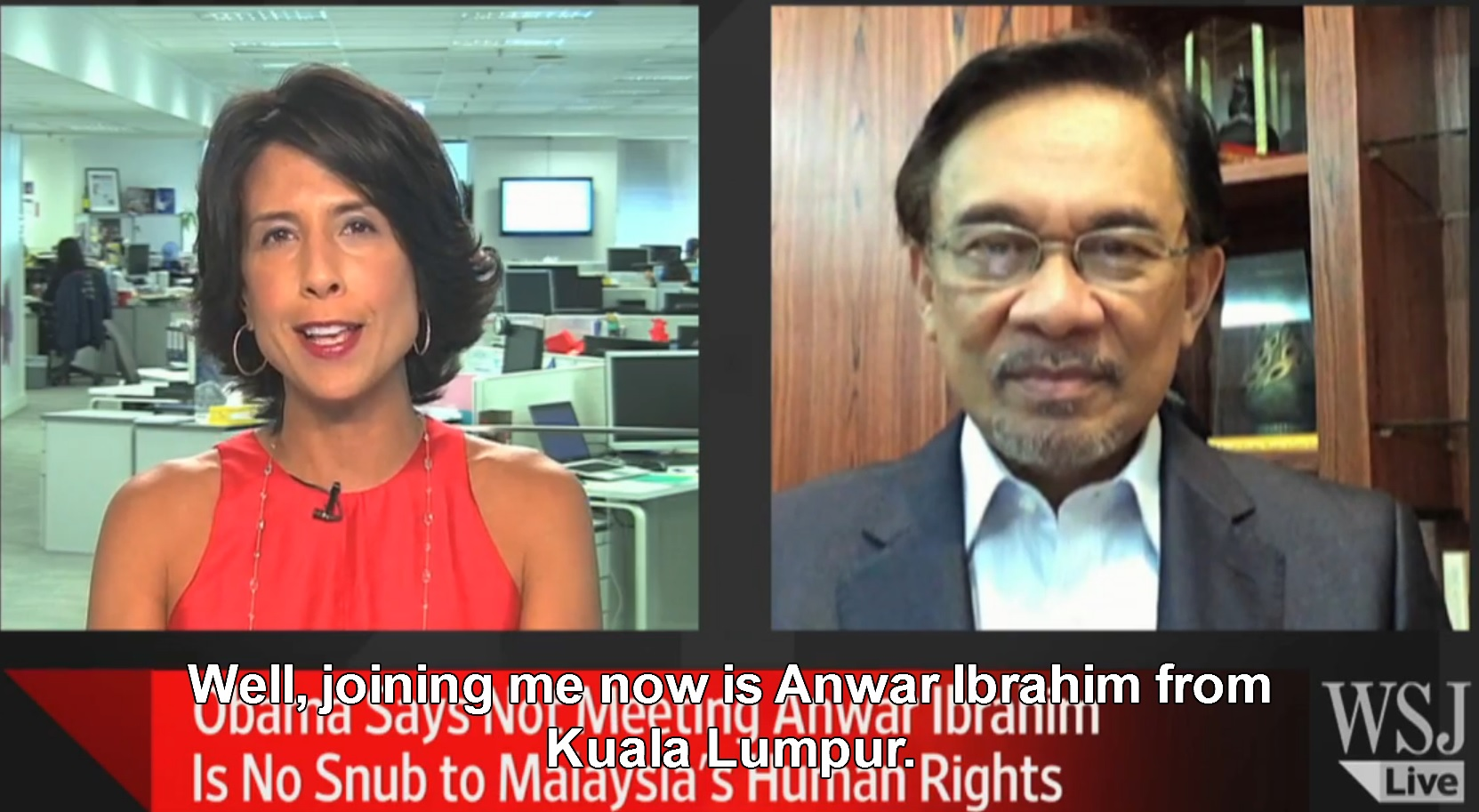 WSJ: Malaysia Opposition Leader, Anwar Ibrahim's Message for Obama