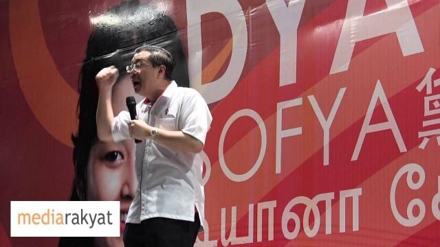 Lim Guan Eng: Pengundi Sokong DAP Supaya Diyana Sofya Boleh Tumbangkan Parti Rasis BN