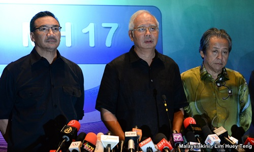 Malaysian Airlines MH17: Statement by Prime Minister Najib Razak