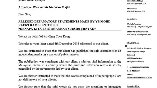 Mediarakyat to also defend itself