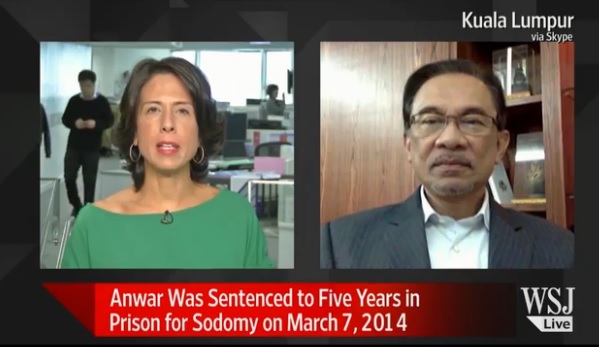 WSJ Interview: Anwar Confident Sodomy Conviction Will be Reversed