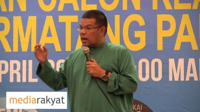 Saifuddin Nasution: Kita Butirkan UMNO Salah, Salah Dan Salah
