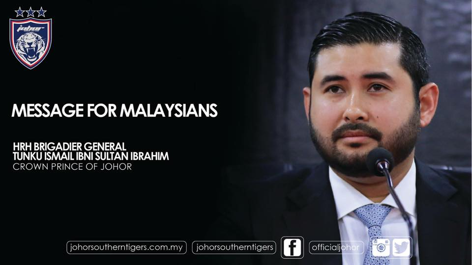 The Crown Prince of Johor: You are a minister, not a God from the heavens who lord above everybody
