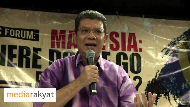Saifuddin Abdullah: Let's Standing With The Good People Trying To Maintain Whatever Integrity Left