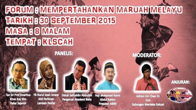 Nurul Izzah: Apakah Yang Didefinisikan Sebagai maruah Melayu?