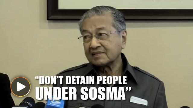 Mahathir joins Ku Li to blast use of Sosma