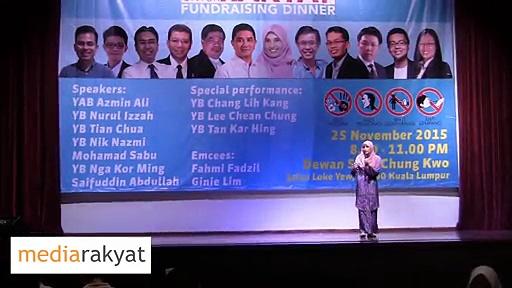 Nurul Izzah: Bukan Saya Perompak Wang Negara, Bukan Saya Pengkhianat Malaysia