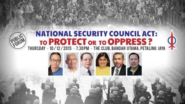 (Forum) National Security Council Act: To Protect or To Oppress?
