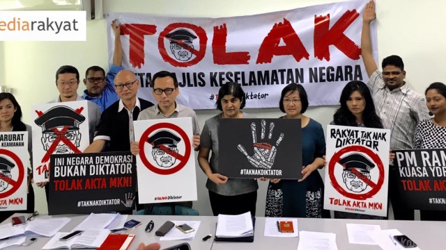 #TakNakDiktator : Malaysia Must Unite to Stop the National Security Council Bill 2015