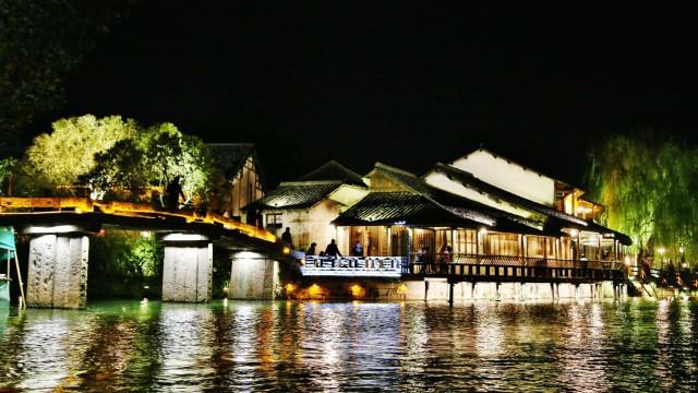 夜船遊烏鎮水鄉西柵 Night Boat Cruise At Wuzhen Water Town