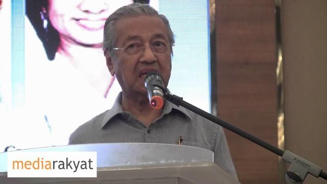 Dr Mahathir: Saya Merayu Supaya Kalau Kita Diam Diri, Kita Akan Jadi Mangsa