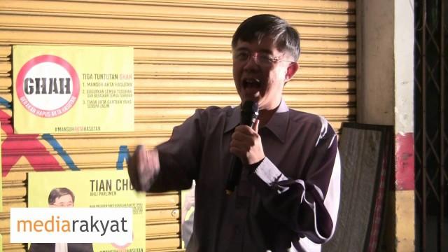 Tian Chua: Tiada Penjara Didunia Mampu Memperjarakan Rakyat Kalau Rakyat Berekspresi Untuk Kebebasan