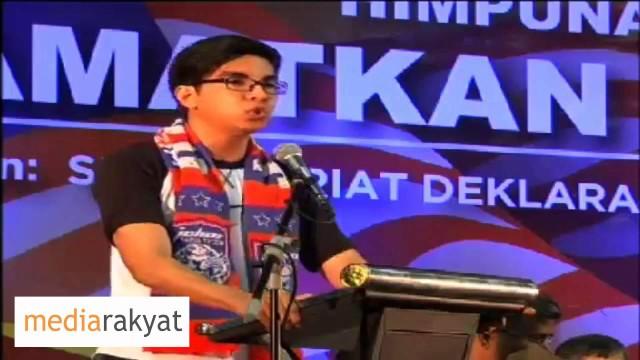 Syed Saddiq Abd Rahman: Anak Muda Perlu Berani Kehadapan Untuk Menyelamatkan Negara