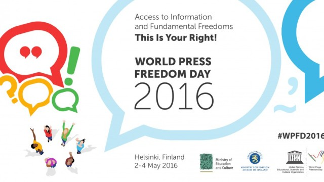 3rd May – World Press Freedom Day