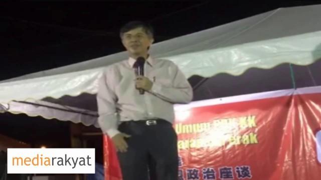 Tian Chua 蔡添强:国家的领导人贪污,滥用权力,造成民不聊生